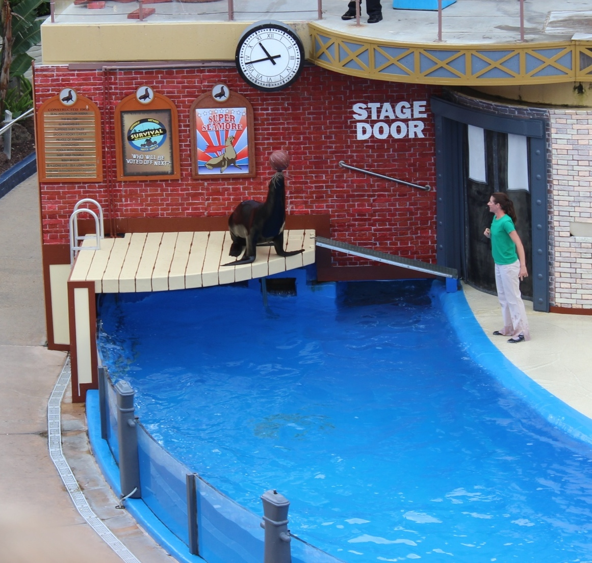 From a recent visit to Sea World.  I doubt this sea lion would keep performing without his rewards.